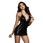 Xanded Fantasy Open Back Leather Womens Nightwear