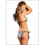 Xander Fancy Silver Color Bra Briefs Suit Sexy Bikini - Swimsuit