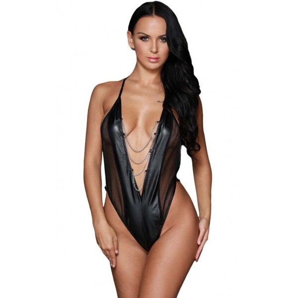 Xanded Leather Fantasy Babydoll Underwear