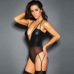 Xanded Fantasy Leather Sexy Garter Suit