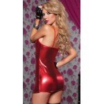 Fantasy Gartered Red Dress Sexy Nightwear Fantasy Lingerie
