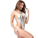Xanded Fantasy Silver Leather Nightgown Costume